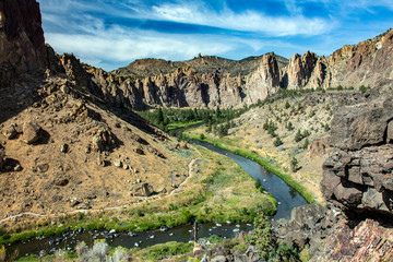 Classic View of Smith Rock State Park - Oregon