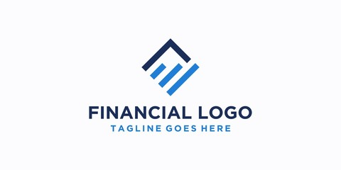 square financial logo design inspiration