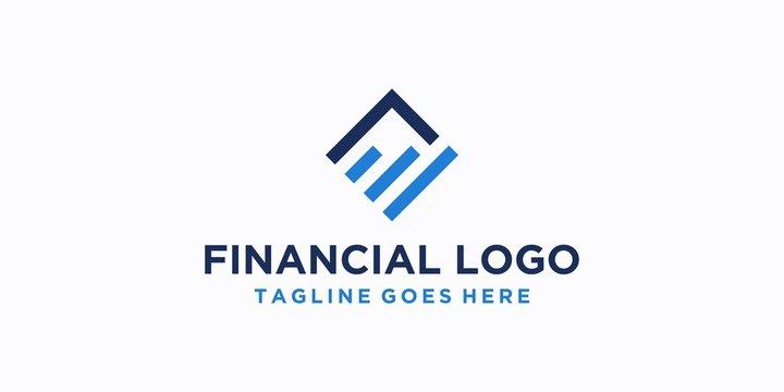 square financial logo design inspiration