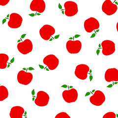 Seamless pattern with apple. Fashion design. Food print for tablecloth, curtain or dishcloth. Fruits sketch background – stock vector