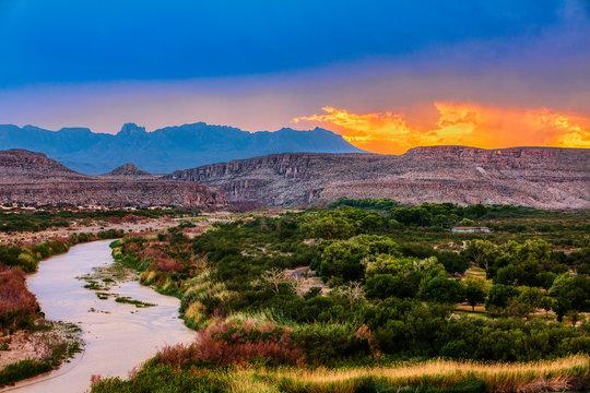 Big Bend National Park, near Mexican border, USA, sunset