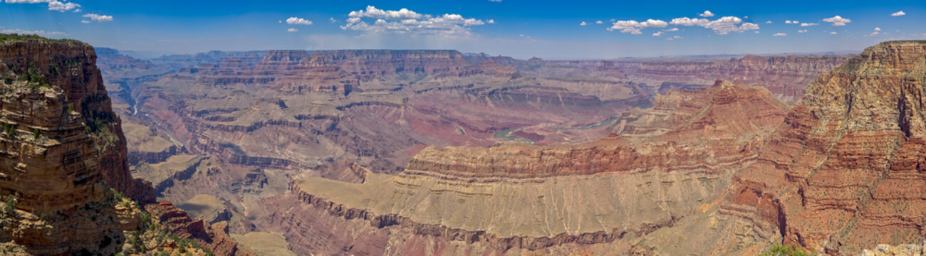 Grand Canyon viewed just east of Pinal Point on the south rim. The haze is from a wildfire on the north rim.