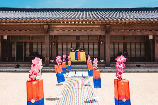 한국 가옥과 전통결혼식 풍경 ( Korean House and Traditional Wedding Scenic Area )