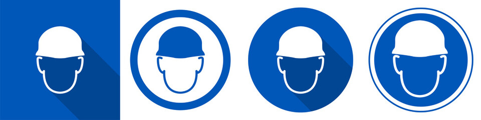 Wear helmet Symbol Sign Isolate on White Background,Vector Illustration