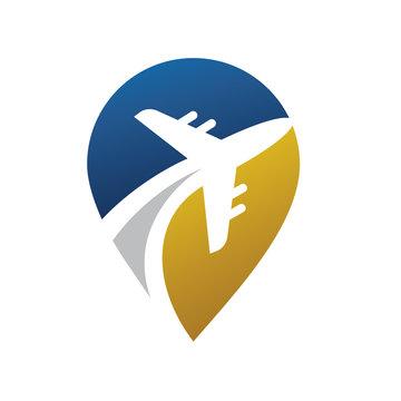 Travel, Airplane, Airline, Aero Logo Vector