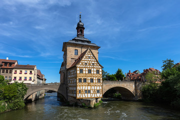 Symbolic view of the old town hall in Bamberg