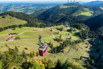 Schwebebahn cable car from Bergen to Hochfelln in Bavaria, Germany