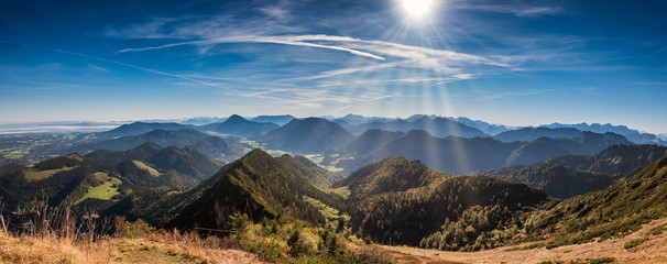 Hochfelln alps in Bavaria on a sunshine day, Germany