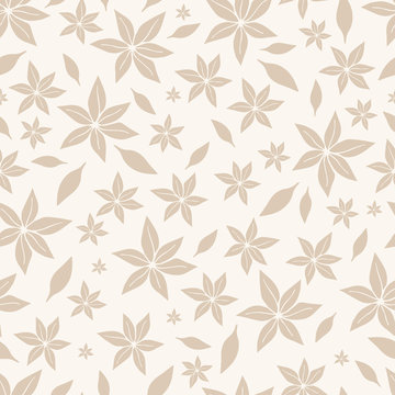 Seamless floral pattern. Scandinavian style. Vector illustration.