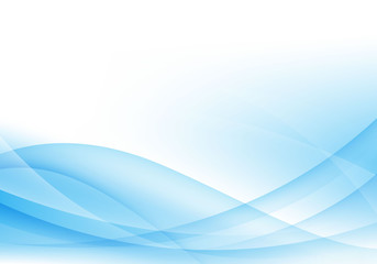 Abstract blue and white wave background, gentle design