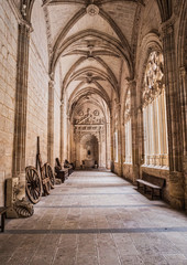 Interior of Cathedral of Our Lady of Assumption, Cloister Located on the south side of the cathedral, is the work of Juan Guas, take in Segovia, Spain