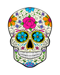 day of the dead, sugar skull, vector illustration