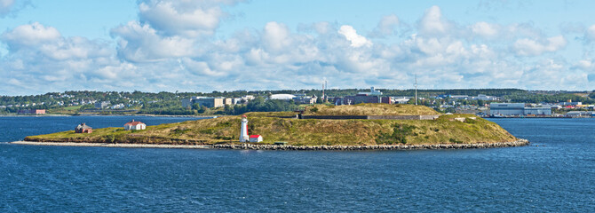 Georges Island in Halifax harbour is home to a lighthouse and fortifications