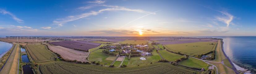 Luftbild Fehmarn Sonnenuntergang
