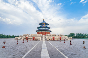 Canvas Prints Peking The architectural scenery of the temple of heaven in Beijing, China