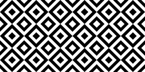 Vector geometric seamless pattern with rhombuses. Monochrome stylish texture.