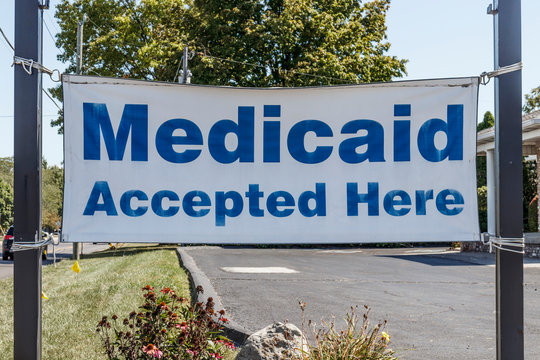 Medicaid Accepted Here sign. Medicaid is a federal and state program that helps with medical costs for people with limited income I
