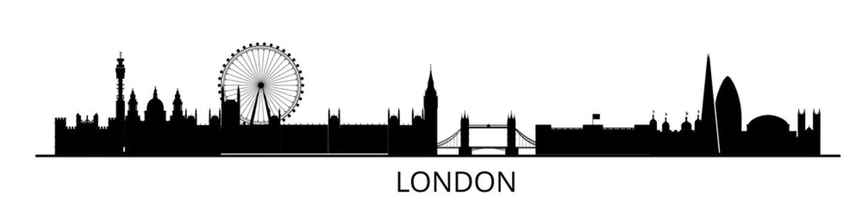 Panorama of London flat style vector illustration. Istanbul architecture. Cartoon London symbols and objects. London city skyline vector background. Flat trendy illustration.