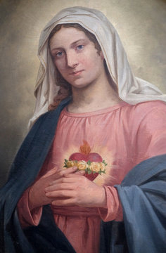 Immaculate Heart of Mary, altarpiece in the church of St. Agatha in Schmerlenbach, Germany