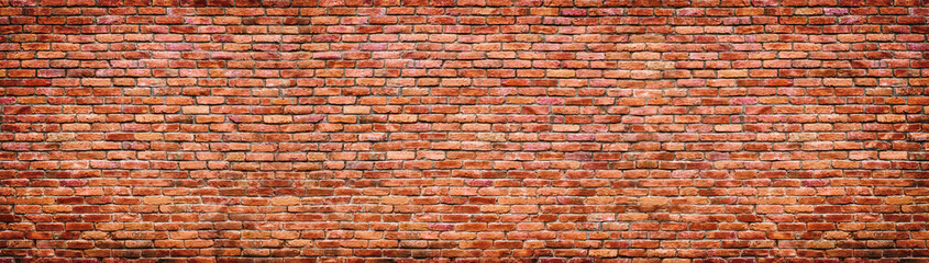 Stores à enrouleur Brick wall Vintage brick wall texture. Panoramic background of old stone.