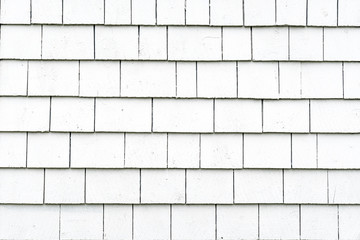 White Exterior Shingle Siding