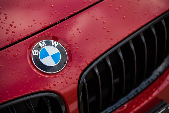 BMW red logo