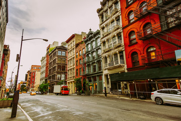 Broome St in SoHo District in New York City