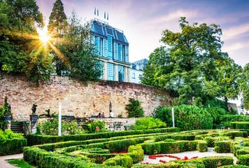 Saarbrücken Saarland - Saarbrücker Schloss Rückseite mit Schlossgarten