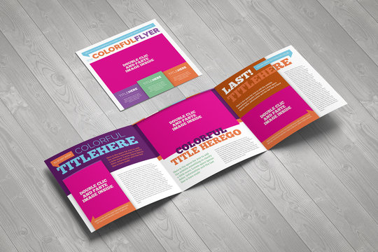 Colorful Square Trifold Brochure