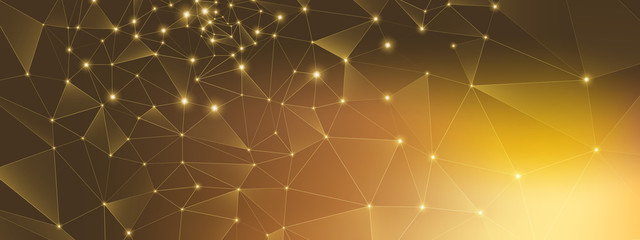 Gold Technology Connection. Big Data 3d. High