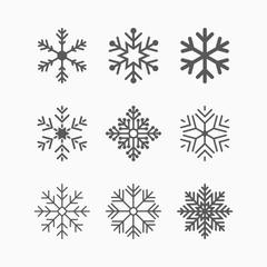 snowflake icon, winter vector
