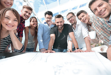group of young architects working in collaboration