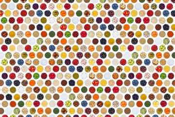 Wall Mural - Fruits and vegetables berries cooking spices herbs food background from above
