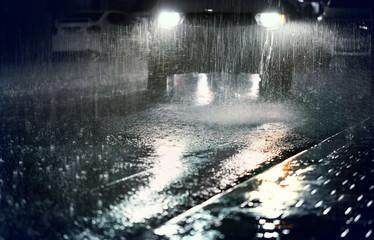 Rainy night in the big city.