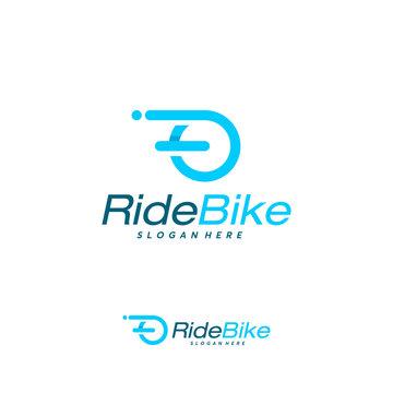 Simple Bike Ride logo designs concept vector, Free Ride logo