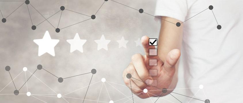 5 star rating. put a good mark