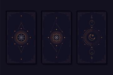 Geometric mystic symbols vector set Wall mural