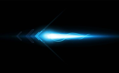 Abstract Arrow Light out technology background Hitech communication concept innovation background
