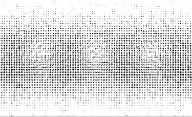 Bright sunbeams background with White Black dots. Abstract background with halftone dots design.