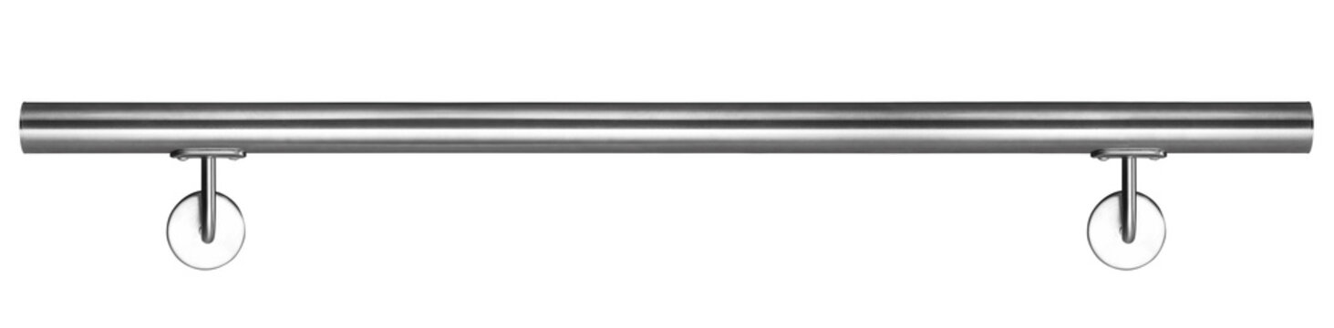 Modern Handrail Stainless Steel isolated