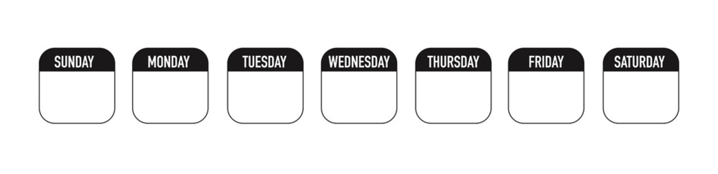 Weekly planner icon