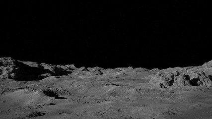 Photo sur Plexiglas Noir Moon surface, lunar landscape