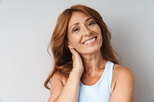 Portrait of an attractive middle aged woman