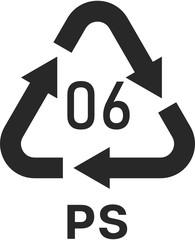 Polystyrene 06 PS Icon Symbol