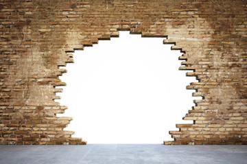 Mauer mit Loch