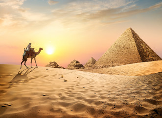 Deurstickers Egypte Desert in Egypt