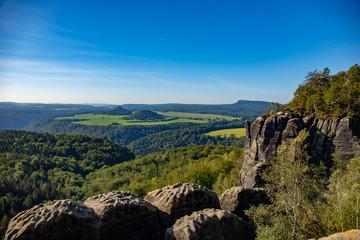 Sächsische Schweiz 2019 Wandern Herbst Tschechien Panorama