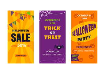 Halloween Party invitation greeting card promotion banner or flyer