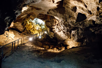 Natural Marble Arch cave underground, Fermanagh, Northern Ireland. Filming location for many films and series