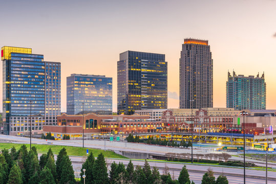 Atlanta, Georgia, USA downtown cityscape in Atlantic Station